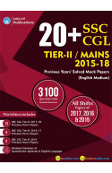 20+ SSC CGL Tier II 2015-18 Previous Year's (English Printed