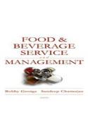 Food & Beverage – Service and Management