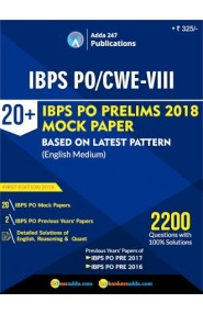 20+ IBPS PO Prelims 2018: Mock Test Papers Book