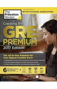 Cracking The Gre With 6 Practice Tests, 2017